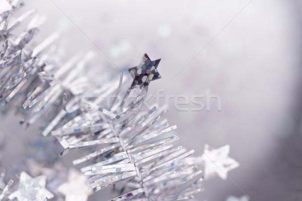 Navidad decoración plata primer plano foto fiesta Foto stock © Nneirda