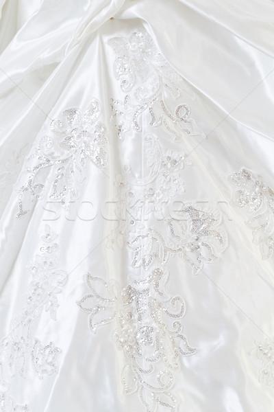 красивой подвенечное платье подробность фото свадьба Сток-фото © Nneirda