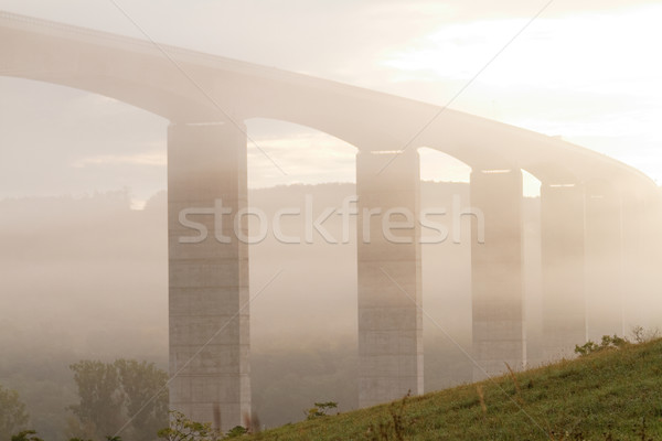 Viaduct at sunrise Stock photo © Nneirda