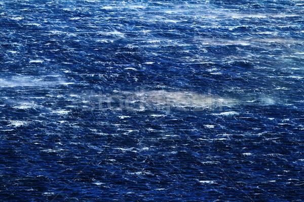 Mar furioso ondas vento água Foto stock © Nneirda