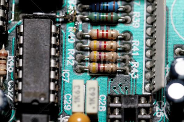 Electronic components Stock photo © Nneirda