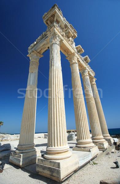 The Temple of Apollo in Side, Turkey Stock photo © Nneirda