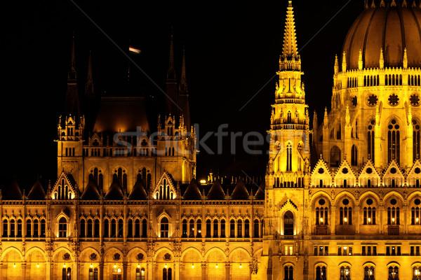 Budapest parlement bâtiment Hongrie crépuscule urbaine Photo stock © Nneirda