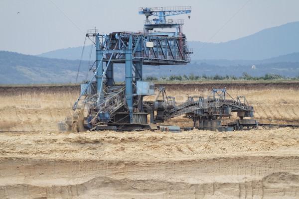 ストックフォト: 鉱山 · 石炭 · マイニング · オープン · 煙 · 工場