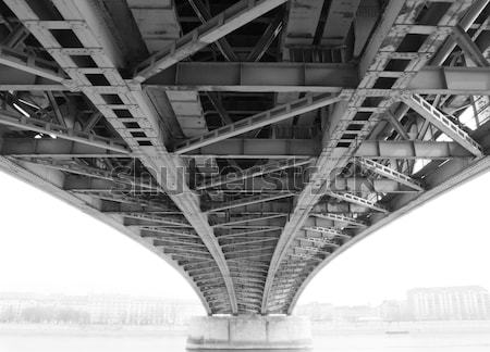 abstract steel construction from under the bridge Stock photo © Nneirda