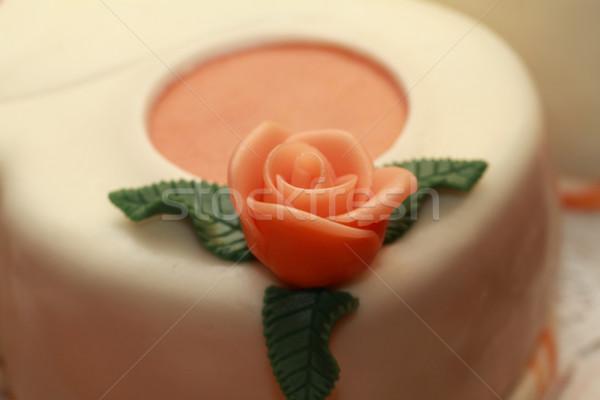 Cake with marzipan roses Stock photo © Nneirda