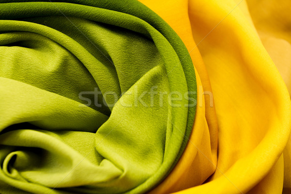 Stock photo: Golden and green textile