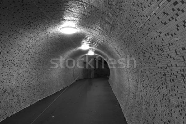 Sötét alagút fotó város üzlet út Stock fotó © Nneirda