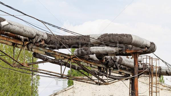 Industrial posts Stock photo © Nneirda