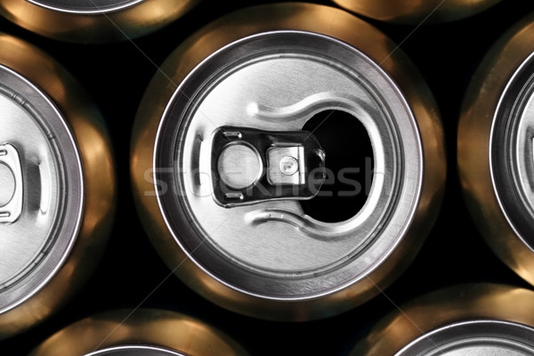 Much of drinking cans Stock photo © Nneirda