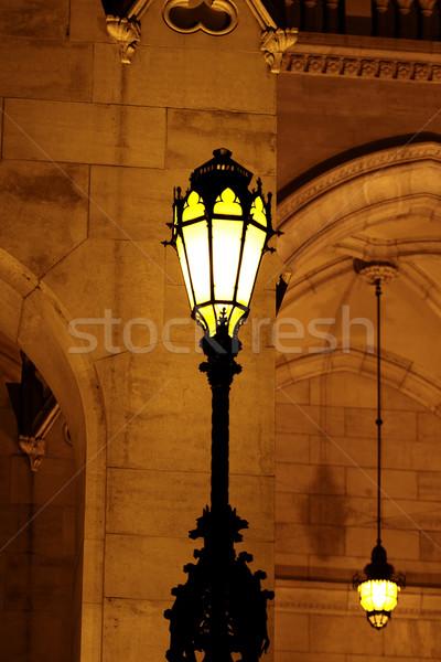 Будапешт парламент здании Венгрия сумерки городского Сток-фото © Nneirda