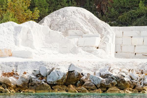 Thassos white marble quarry Stock photo © Nneirda