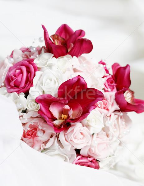 Rosa rose primo piano foto fiore Foto d'archivio © Nneirda