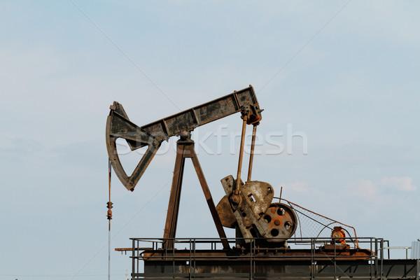 Óleo alto bem pormenor negócio construção Foto stock © Nneirda