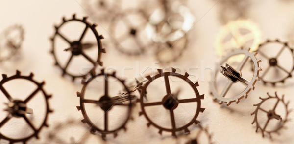 Klein onderdelen klok detail restauratie werk Stockfoto © Nneirda