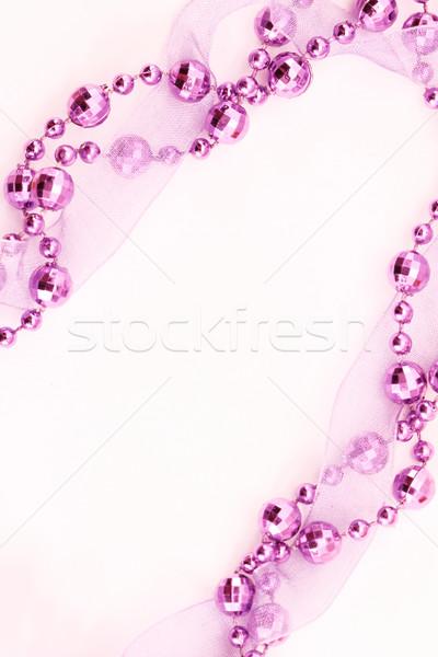 Stockfoto: Christmas · decoratie · paars · guirlande · licht