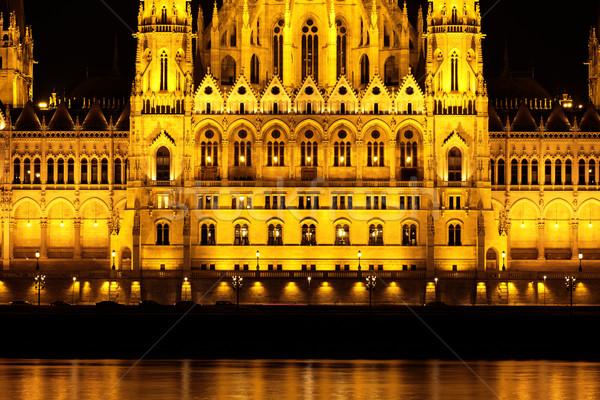 Budapest parlement bâtiment détail Hongrie crépuscule Photo stock © Nneirda