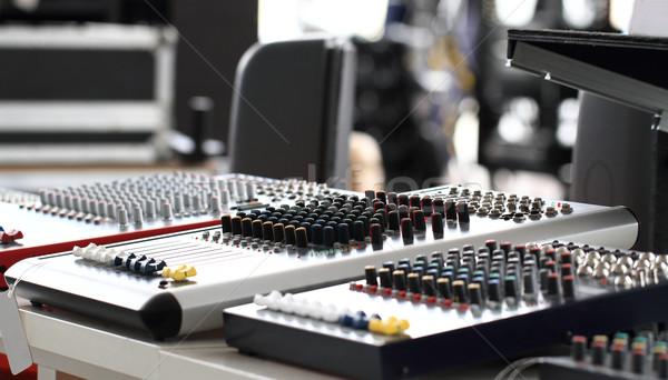 Mikser teknoloji siyah laboratuvar beyaz Stok fotoğraf © Nneirda