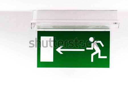 Emergency exit sign Stock photo © Nneirda