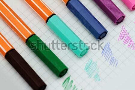 Color pens Stock photo © Nneirda
