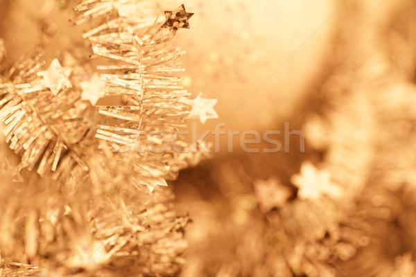 Navidad decoración amarillo primer plano foto fiesta Foto stock © Nneirda