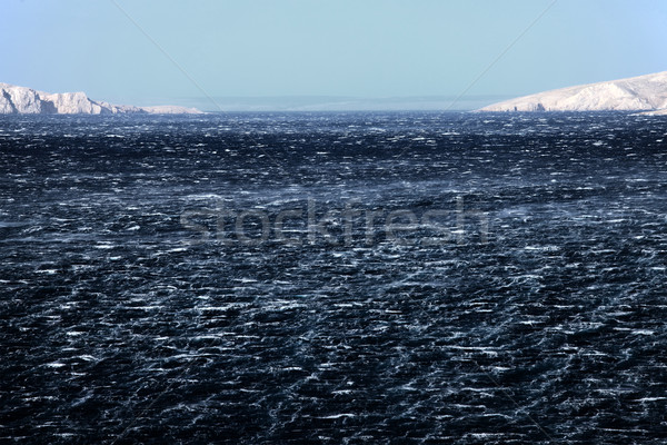 Tenger dühös hullámok vad szél víz Stock fotó © Nneirda