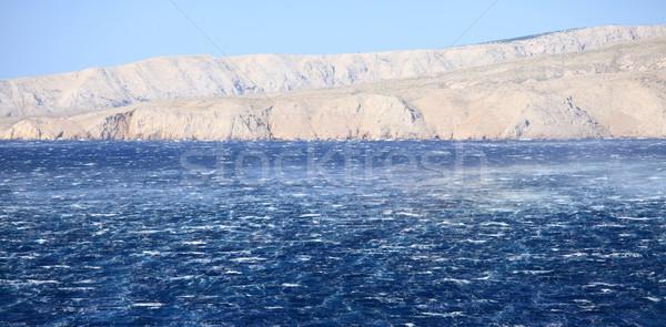 Morza wściekły fale wiatr wody Zdjęcia stock © Nneirda