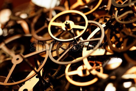 Small parts of clock Stock photo © Nneirda