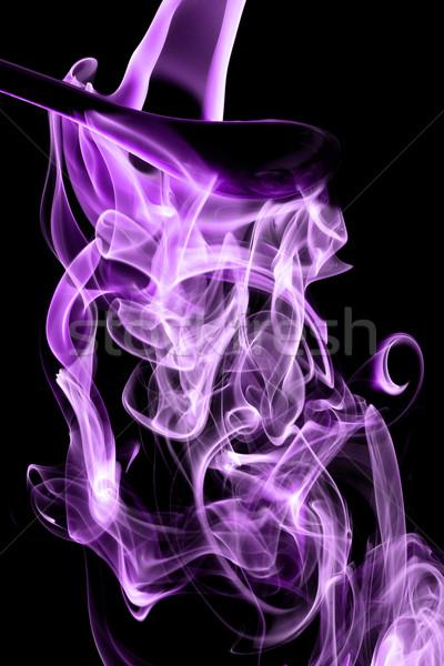 Magenta fumar naturalismo preto luz espaço Foto stock © Nneirda