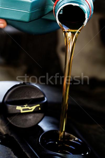 Friss motorolaj olaj apró kéz ipar Stock fotó © Nneirda