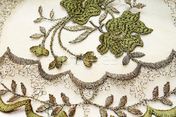 Green textile background  Stock photo © Nneirda