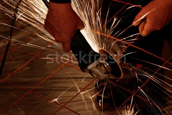 Electric grinder - sparks flying Stock photo © Nneirda