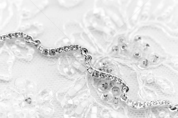 Splendente gioiello foto bella bianco ragazza Foto d'archivio © Nneirda