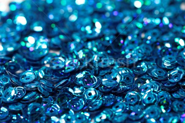 Mavi payet fotoğraf doku moda Stok fotoğraf © Nneirda