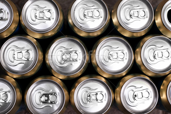 Much of drinking cans close up Stock photo © Nneirda