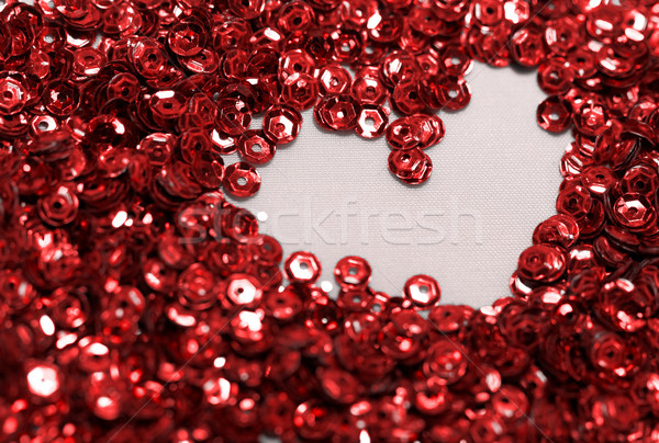 Stock photo: Red sequin