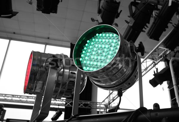 Stockfoto: Ingesteld · metalen · fase · licht · studio · verlichtingsapparatuur
