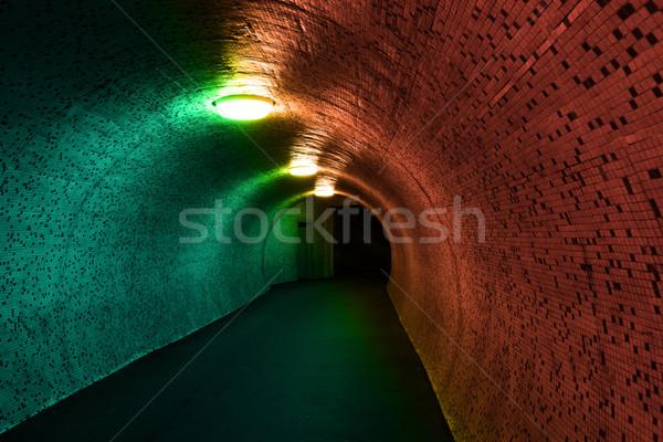 歩行者 トンネル 1泊 青 都市 ライト ストックフォト © Nneirda