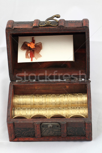 Húngaro foto moedas tabela fundo compras Foto stock © Nneirda