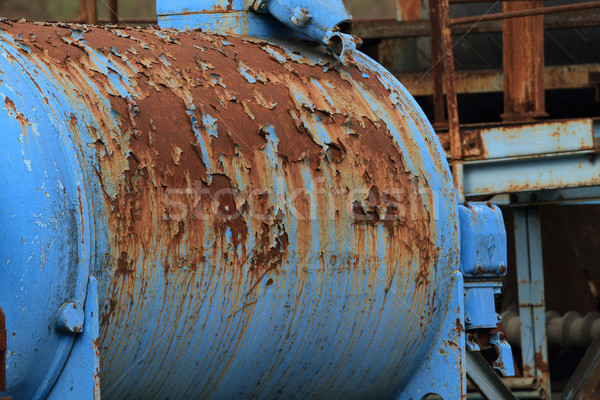 Olaj pumpa motor közelkép öreg kék Stock fotó © Nneirda