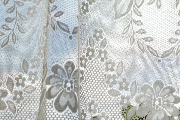 кружево шторы фото окна цветок моде Сток-фото © Nneirda