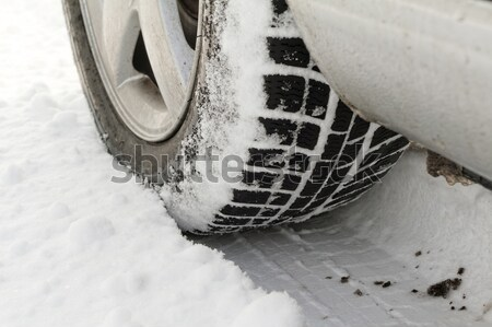Invierno neumáticos coches neumáticos carretera Foto stock © Nneirda