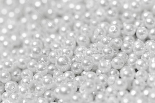 Perla textura blanco fondo hermosa Foto stock © Nneirda