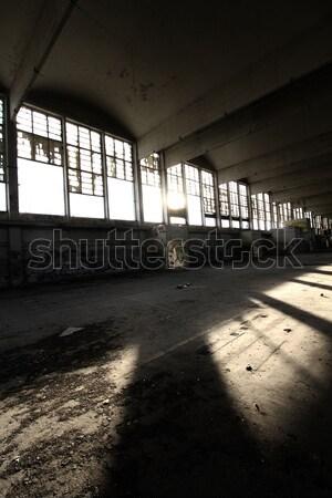 Zniszczenia budynku domu budowy ściany Zdjęcia stock © Nneirda