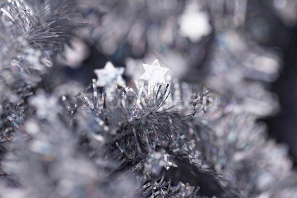 Stock photo: Tinsel. Christmas decoration.