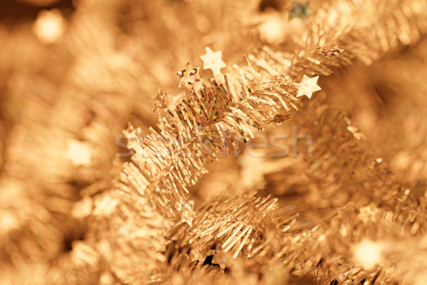 Tinsel. Christmas decoration. Stock photo © Nneirda