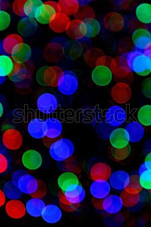 Soyut ışık bokeh doku yeşil mavi Stok fotoğraf © Nneirda