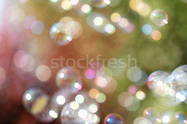Sabun köpüğü gökkuşağı kabarcıklar kabarcık üfleyici dizayn Stok fotoğraf © Nneirda