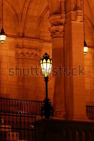 Budapest parlamento edificio Hungría crepúsculo urbanas Foto stock © Nneirda