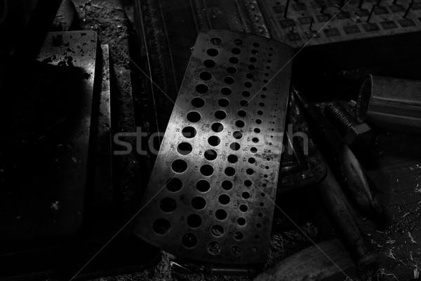 テンプレート サイズ セット ツール 木材 パネル ストックフォト © Nneirda